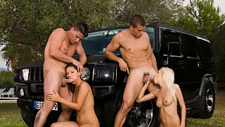 Boroka Balls and Vanessa May Get Laid on Hood of Car for Warm Facial