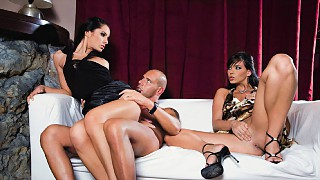 Lucy Belle and Simony Diamond Having a Threeway with Anal and Facials