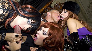 Ellen Saint Julie Silver and Lucy Love Suck Cock and Fuck FFFM 4 Way