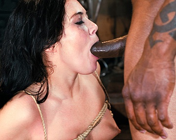 Private  porn video: Ashley Blue Is Tied up and Ass Fucked in This Interracial BDSM Scene
