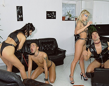 Private  porn video: Dominatrices Mercedes and Sophie Angel Use Two Men for Hardcore Sex