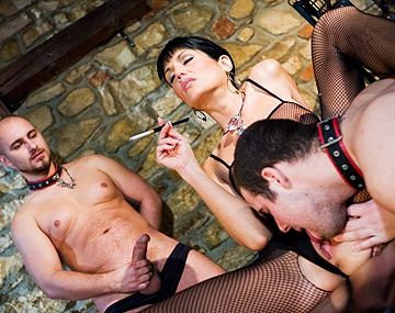 Private HD porn video: Smoking Hot Sarah Twain Gets a DP from Two Submissive Male Prisoners