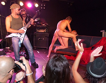 Private HD porn video: Diana Dean Evita De Luna and Laia Prats Have a Rock Star Orgy on Stage
