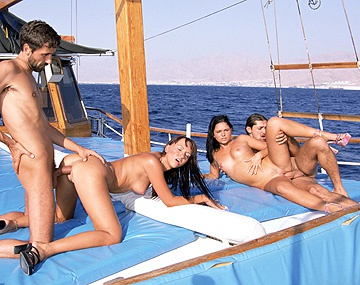 Private  porn video: Two Swinging Couples Have Sex All Together on a Boat