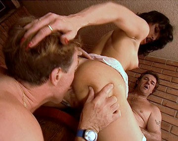 Private  porn video: Catherine Wears Stockings While Enjoying a MMF Threesome with a DP