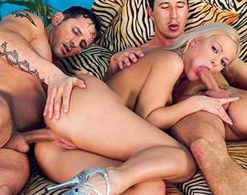 Private  porn video: The Blonde Kitty Sixx Takes a Serious Anal Blasting by Two Men